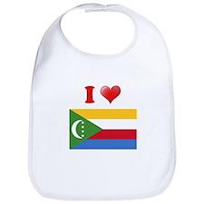 I love Comoros Flag Bib