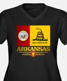 Arkansas Gad Women's Plus Size Dark V-Neck T-Shirt