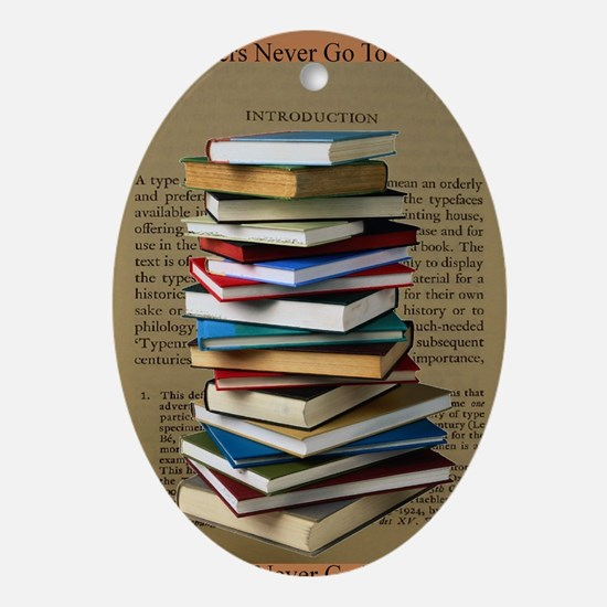 Book Lovers Blanket 2 Oval Ornament