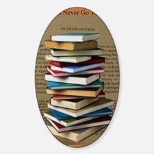 Book Lovers Blanket 2 Sticker (Oval)