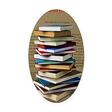 Book Lovers Blanket 2 Oval Car Magnet