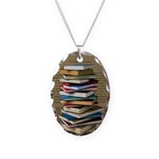 Book Lovers Blanket 2 Necklace Oval Charm