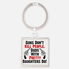 Pretty Daughters Square Keychain