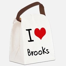 I Love Brooks Canvas Lunch Bag