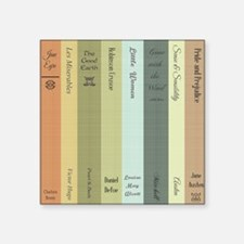 "Book Lovers Square Sticker 3"" x 3"""