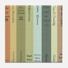 Book Lovers Personalized Shower Curta Tile Coaster
