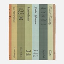 Book Lovers Personalized Shower Curt Throw Blanket