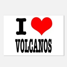 I Heart (Love) Volcanos Postcards (Package of 8)