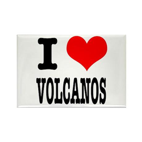 I Heart (Love) Volcanos Rectangle Magnet (10 pack)