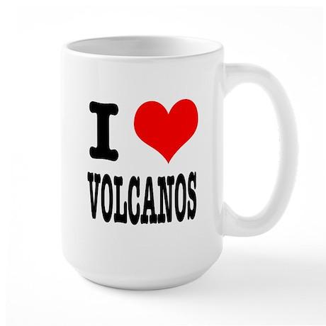 I Heart (Love) Volcanos Large Mug