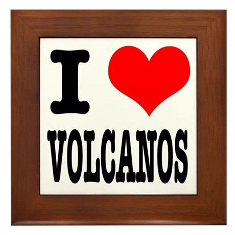 I Heart (Love) Volcanos Framed Tile