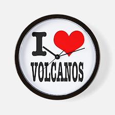 I Heart (Love) Volcanos Wall Clock
