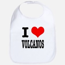 I Heart (Love) Volcanos Bib