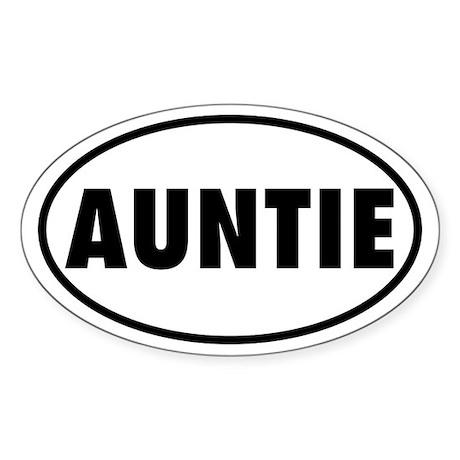 AUNTIE Oval Sticker