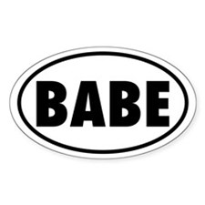 BABE Oval Decal