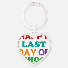 Happy Last Day of School Heart Keychain