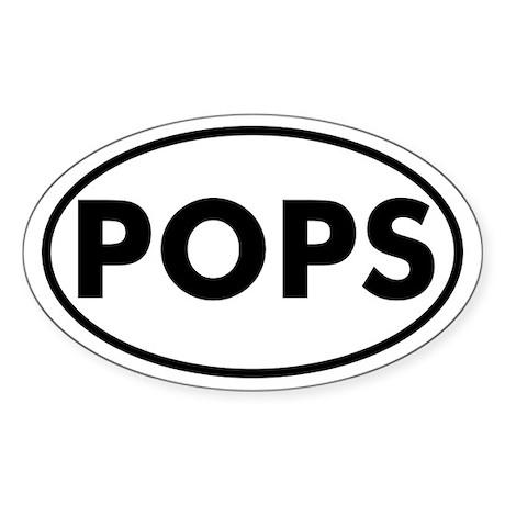 POPS Oval Sticker