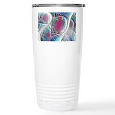 Blue and White, Quilt o Travel Mug