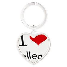 I Love College Heart Keychain