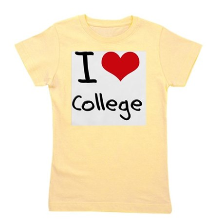 I Love College Girl's Tee
