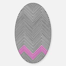 Zigzag Sticker (Oval)