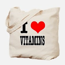 I Heart (Love) Vitamins Tote Bag