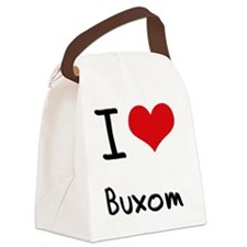 I Love Buxom Canvas Lunch Bag