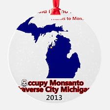 Occupy Monsanto Traverse City Michi Ornament