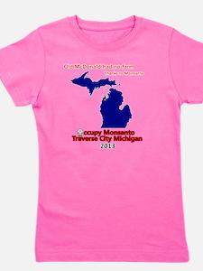 Occupy Monsanto Traverse City Michigan Girl's Tee