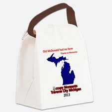 Occupy Monsanto Traverse City Mic Canvas Lunch Bag