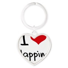 I Love Clapping Heart Keychain
