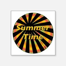 """Summer Time Square Sticker 3"""" x 3"""""""