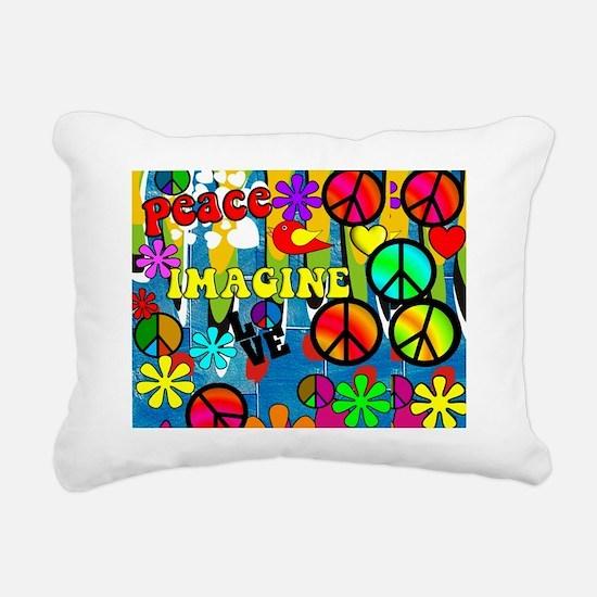 Peace ART HORIZONTAL Rectangular Canvas Pillow
