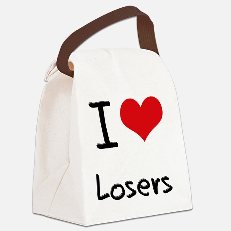 I Love Losers Canvas Lunch Bag