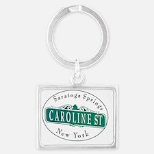 Caroline Street, Saratoga Sprin Landscape Keychain