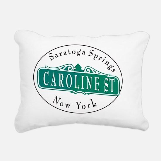 Caroline Street, Saratog Rectangular Canvas Pillow