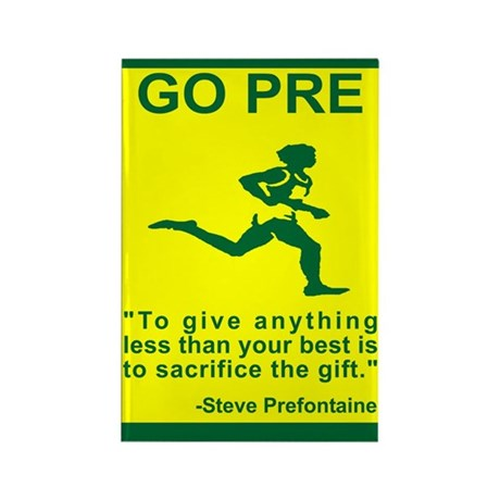 """GO PRE """"The Gift"""" Rectangle Magnet"""