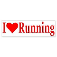 """""""I Love Running"""" Bumper Bumper Sticker"""