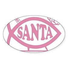 Santa Fish Baby Girl Pink Decal