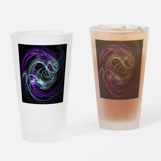Light Within, Abstract Swirls Drinking Glass