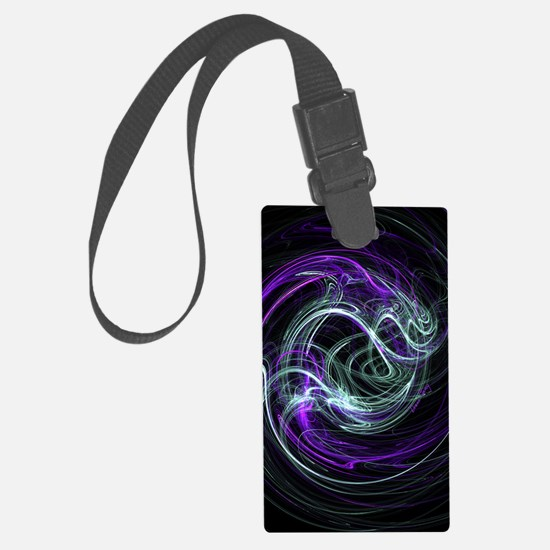 Light Within, Abstract Swirls Large Luggage Tag