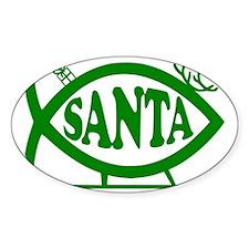Santa Fish Green Decal