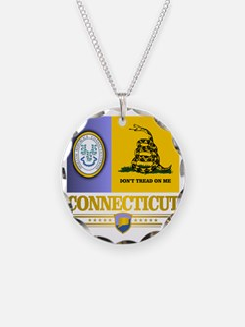 Connecticut Gadsden Flag Necklace