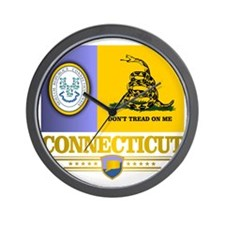 Connecticut Gadsden Flag Wall Clock