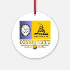 Connecticut Gadsden Flag Round Ornament