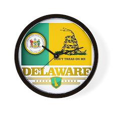 Delaware Gadsden Flag Wall Clock