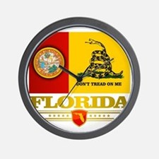 Florida Gadsden Flag Wall Clock