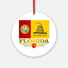 Florida Gadsden Flag Round Ornament