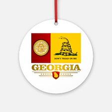 Georgia Gadsden Flag Round Ornament