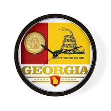 Georgia Gadsden Flag Wall Clock